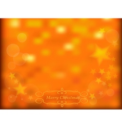 Gold sparkles and stars background vector image