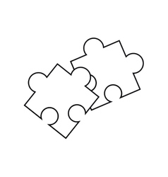 Isolated puzzle design vector image vector image