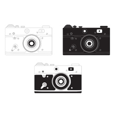 Retro camera in different design options vector image vector image