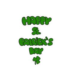 st patricks day greeting saint patricks day vector image