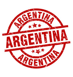argentina red round grunge stamp vector image vector image