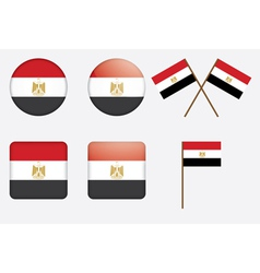 badges with flag of Egypt vector image vector image
