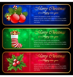Christmas horizontal banners vector image