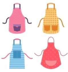 colorful apron set vector image