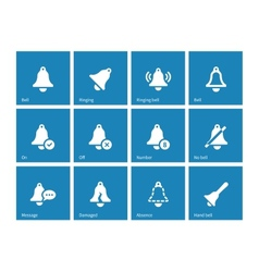 Ringing icons on blue background vector image vector image
