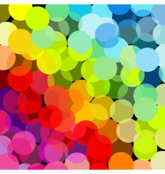 abstract rainbow made of circles vector image
