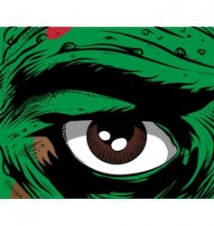 comic book eye vector image vector image