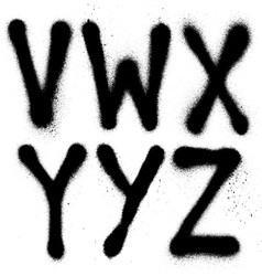 Detailed graffiti spray paint font type part 4 vector image vector image