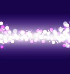 festive defocused lights on a blue background vector image vector image