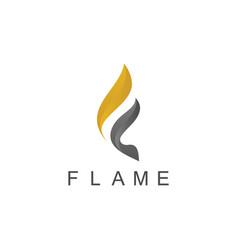 flame 3d logo vector image