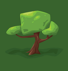a tree with a large crown vector image vector image