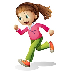 A young lady jogging vector image vector image