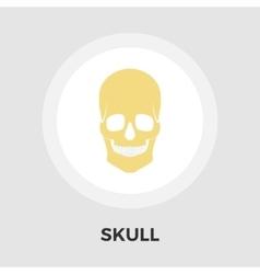 Anotomy skull flat icon vector image