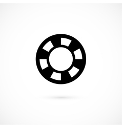 Casino chip icon isolated on white background vector image vector image