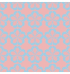 geometric seamless floral pattern pastel palette vector image