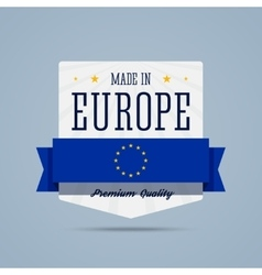 Made in Europe badge vector image