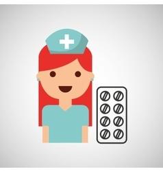 nurse character pharmacy medicine design vector image