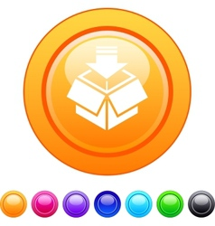 Package circle button vector image