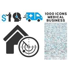 Realty Radar Icon with 1000 Medical Business vector image vector image
