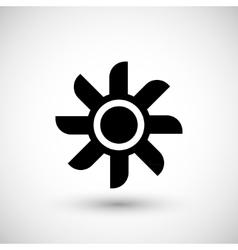 Ventilation propeller icon vector