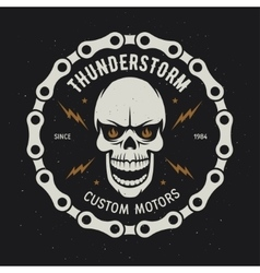 Vintage motorcycle t-shirt graphics Thunderstorm vector image vector image