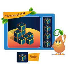 9 blocks game educational vector