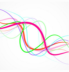 abstract colorful wave of lines curved stripes vector image