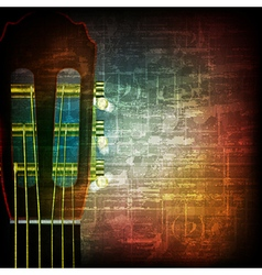 Abstract music grunge vintage background acoustic vector