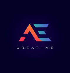 Ae logo letter design with modern creative vector