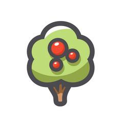 Apple tree simple icon cartoon vector