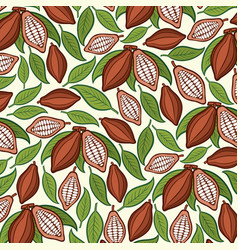 background pattern with cocoa beans vector image