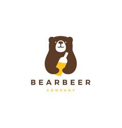 bear beer logo icon vector image