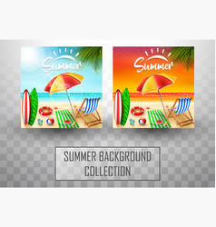 beautiful summer beach background collections vector image