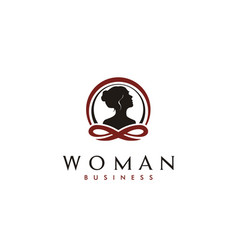 beauty woman face skin care therapy spa logo vector image
