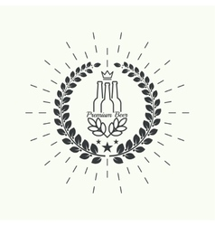 Beer brewery emblems vector image