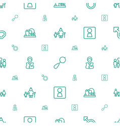 Boy icons pattern seamless white background vector