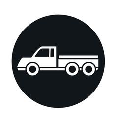 car delivery pick up model transport vehicle block vector image