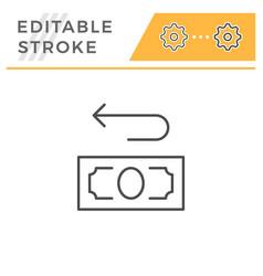 cashback editable stroke line icon vector image