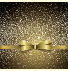 christmas gold bow background vector image