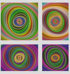 Colorful motion design brochure background set vector