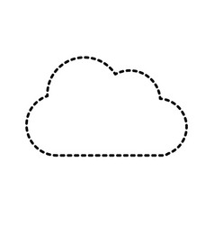 Dotted shape nice cloud design vector