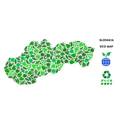 ecology green composition slovakia map vector image