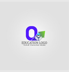 Education logo template with o letter logo vector