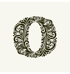 Elegant capital letter O in the style Baroque vector image