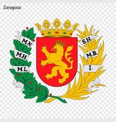 emblem of zaragoza city of spain vector image