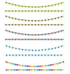 Festive flags elements vector