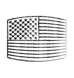 flag united states of america wave out design vector image