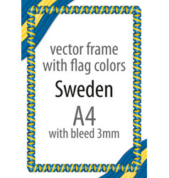 flag v12 sweden vector image