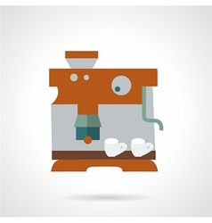 Flat color coffee maker icon vector image