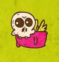 Flying Skeleton Cartoon vector